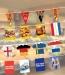 Guirlande en papier plv avec fanions rectangulaires cadeau d'entreprise