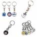 Porte-clés jeton métal cadeau d'entreprise