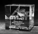 Presse-papier en verre  rectangle avec gravure laser 3d, bloc de verre presse-papier avec gravure 3D publicitaire