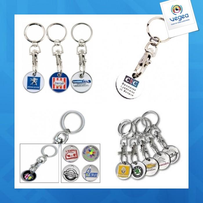 Porte-clés jeton logoté métal